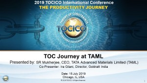 TOCICO_TOC Journey at TAML (US 2019)